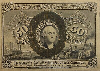 1863 50 Cent Fractional Currency - Scarce -  50C United States - No Reserve