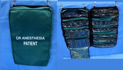 Iron Duck OR Anesthesia Patient Medical Hanging Bag 11 Pockets U.S. Made 38x31""