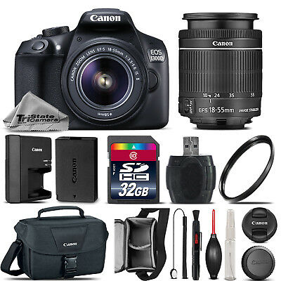 Canon EOS Rebel T6 / 1300D Camera + 18-55mm IS II Lens + Canon Case - 32GB Kit