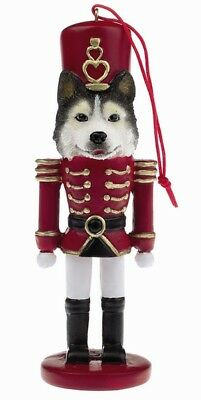 Siberian Husky Dog Soldier Holiday NUTCRACKER ORNAMENT