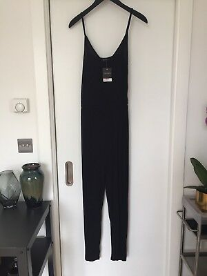 Topshop Strappy Black Jumpsuit UK Size 10 New With Tags