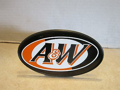 Novelty Inc. advertising A&W Trailer Hitch Cover for Pickup Truck w Tow Package