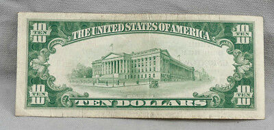 $10 1929 National Currency The Second National Bank Of Uniontown PA Charter 5034