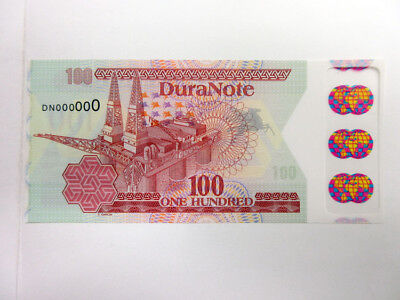 DuraNote (CAN) ND (ca.1980-90s) Pioneer Polymer Sample Note Gem Unc World globes
