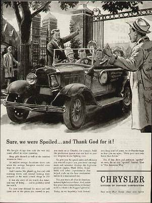 """1944 Chrysler Jalopy ad (Fun Car showing """"Standing Room Only"""""""