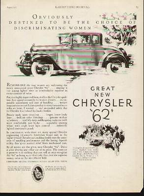 """1927 Great New Chrysler """"62"""" Coupe ad"""