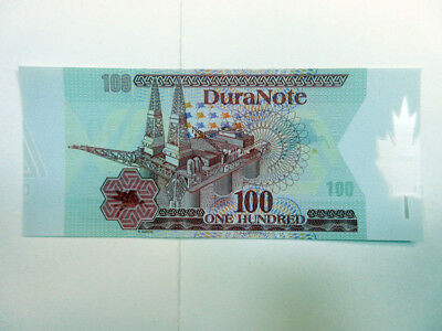 Duranote Polymer Advertising Test Note 1980-90's Oil Rig Maple Leaf Gem UNC