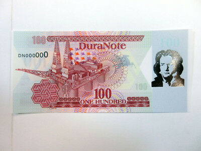 Duranote Polymer Advertising Test Note 1980-90's Oil Beethover Foil Gem UNC