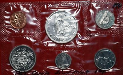 Uncirculated 1962 Canada Silver Mint Set Free S/H