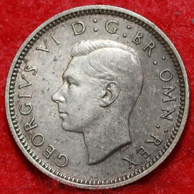 1939 Great Britain 6 Pence Silver Foreign Coin Free S/H
