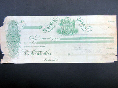 Canada. 1864 Bank of British North America Proof Draft/Check Green PB&C VF