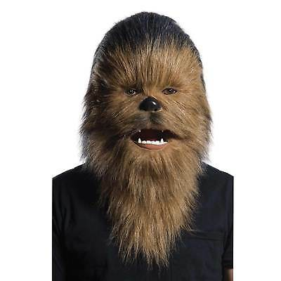 Mens OFFICIAL Moving Mouth Chewbacca Mask High Quality STAR WARS Costume Wookie