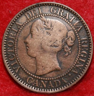 1859 Canada One Cent Foreign Coin Free S/H
