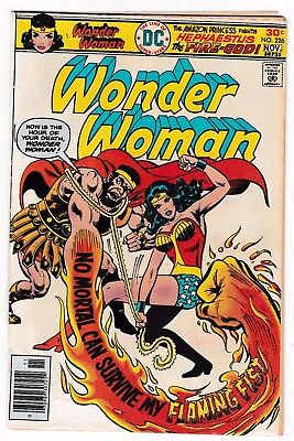 WONDER WOMAN #226 (VG/FN) Diana Prince! Fire-God Cover Story Appearance! DC 1976