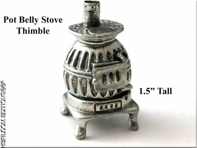 Pewter Pot Belly Stove Thimble