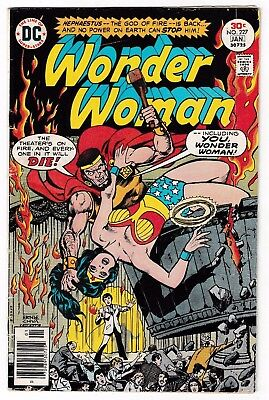 WONDER WOMAN #227 (VG+) Fire-God Cover Story Appearance! DC 1976 Diana Prince!