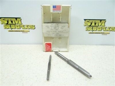 "Nice Pair Of Hss Acme Taps 1/4""-16Rh 2G & 3/8""-12Rh 2G Tandem Widell"