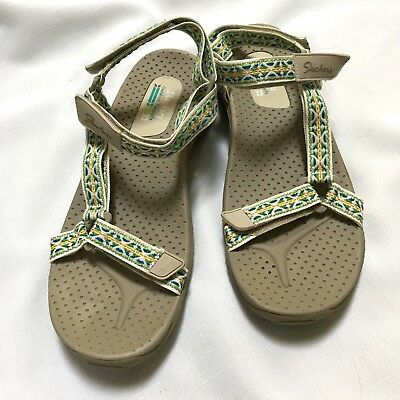 eb90078daf1 SKECHERS OUTDOOR LIFESTYLE Womens Gray Sandals-Size 9-Cloth Straps ...