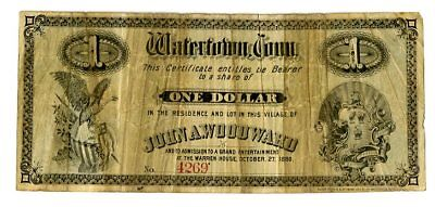 CT 1880 John A. Woodward $1 Share & Admission to Warren House VG