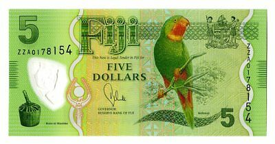 Fiji 5 Dollars 2013 P-115r Replacement Note Gem UNC