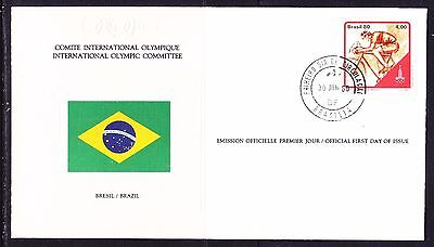 Brazil 1980 - Olympic Committee EMBOSSED First Day Cover