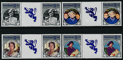 Swaziland 476-9 Gutter Pairs MNH Queen Mother 85th Birthday