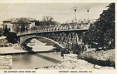 Postcard - C1930 University Bridge, Adelaide, South Australia.