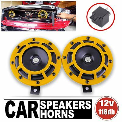 Loud Sound Tone Dual Car Horn 12V Vehicles Styling Part 118dB With Relay 4x4 UH