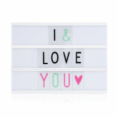 A4 Display Sign Board LED Cinematic Light Box 78 letters Wedding As Seen On TV G