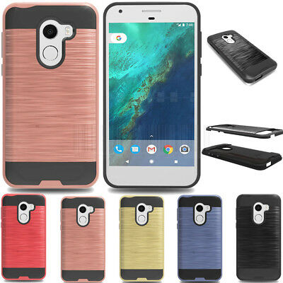 Hybrid Brushed Armor Case Shockproof Cover For ALCATEL WALTERS/REVVL /A30 Fierce