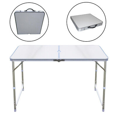 4FT Aluminum Portable Folding Table Camping Outdoor Picnic Party BBQ Market 1.2M