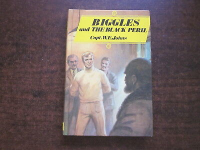 BIGGLES AND THE BLACK PERIL  by Capt W.E. Johns Vintage Dean & Son HC Book