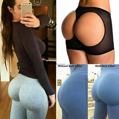 Hot Women Butt Lifter Shaper Tummy Control Panties Buttock Open Instan Boyshort