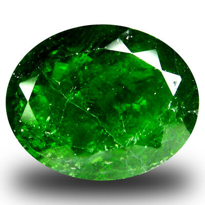 8.13 ct  Romantic Oval Shape (14 x 11 mm) Green Chrome Diopside Natural Gemstone