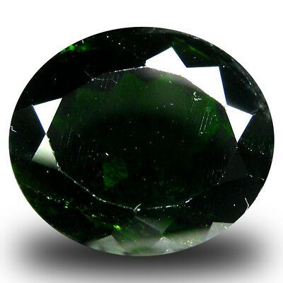 7.77 ct  Incredible Oval Shape (13 x 11 mm) Green Chrome Diopside Gemstone