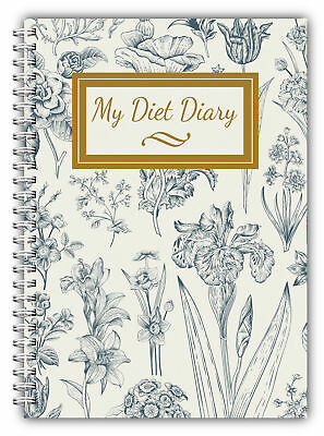 DIET DIARY WEIGHT Dieting TRACKER FOOD WEIGHT LOSS  A5JOURNAL MY DIET DIARY BLUE