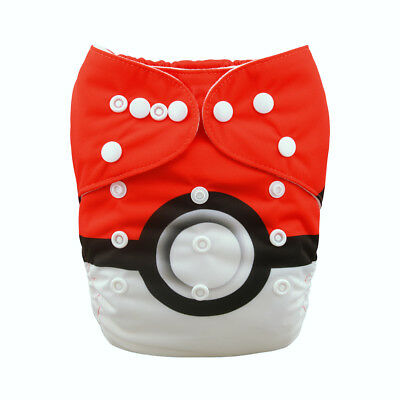 Alvababy Boy  One Size Cloth Diaper Washable Reusable Nappy+1Insert