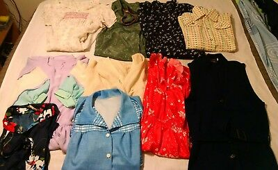 Ladies Vintage Clothing 10pc Wholesale Lot Various Sizes