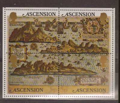 Ascension:1981:Early Maps of Ascension,M/S.Mint.