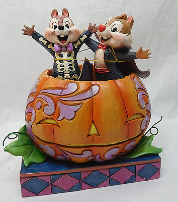Disney Enesco Jim Shore TRaditions Chip Chap 4057947 Tiny Tricksters Halloween