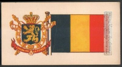 Flag And Standard  Banner For Belgium c50 Y/O Trade Ad Card