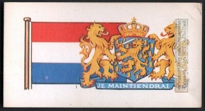 Flag And Standard  Banner For Netherland c50 Y/O Trade Ad Card