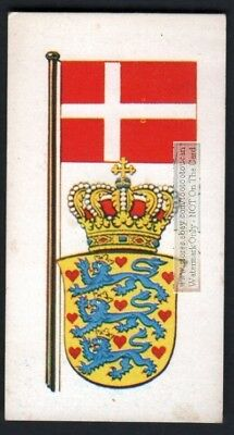 Flag And Standard Banner For Denmark c50 Y/O Trade Ad Card