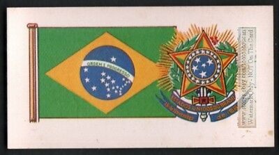 Flag And Standard Banner For Brazil Brasil c50 Y/O Trade Ad Card