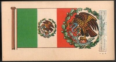 Flag And Standard Banner For Mexico c50 Y/O Trade Ad Card