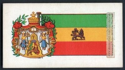 Flag And Standard Banner For Ethiopia c50 Y/O Trade Ad Card