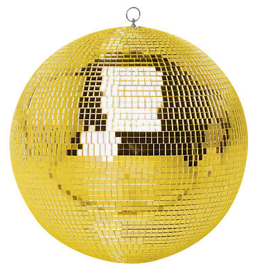 "Genuine SoundLAB Lightweight Gold Mirror Disco Dance Party DJ Ball (400mm 16"")"
