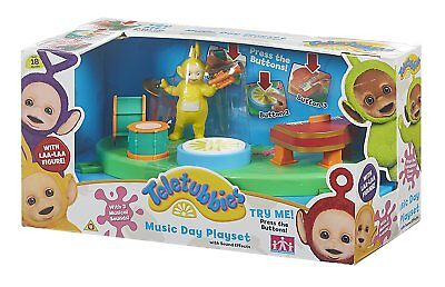 New Official Teletubbies Music Day Playset With Laa Laa Figure 3 Musical Sounds