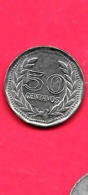 Colombia Km244.2 1979 Unc-Uncirculated Mint Old Vintage 50 Centavos Coin