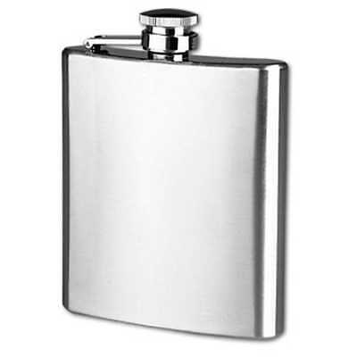 Petaca acero inoxidable stainless 7 oz (200 ml)11 x 9 cm tapon rosca hip flask